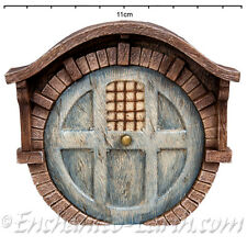 Vivid Arts Miniature World/ Fairy Door/The Round Woodland Burrow Fairy Door/Blue