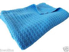 Kinderdecke Schmusedecke Plaid 100% Baumwolle Stonewashed Blau 115 x160 cm Trend