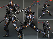 Play Arts Kai Deathstroke Batman Arkham Origins DC Comic Figurine Figure No Box