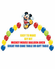 Disney Mickey Mouse Birthday Party BALLOON ARCH for Cake Table or Gift Table
