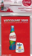 VANCOUVER 2010 XXI OLYMPIC WINTER GAMES COCA-COLA COLLECTIBLE MAGNET Olympics