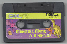 TIGER ELECTRONICS 2XL TALKING ROBOT CASSETTE TAPE MONSTER MYTHS & DINOSAURS NICE