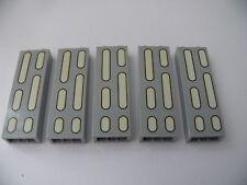 Lego 5 briques gris bluish set 10188 / 5 light bluish bricks from star wars