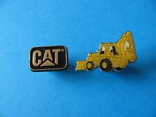 2, Construction Vehicle Pin Badges. Back Hoe Digger & CAT