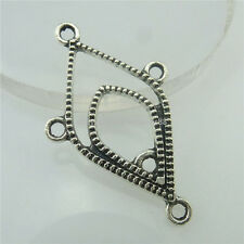 18706 30pcs Vintage Silver Alloy Hollow Rhombus Pendant Branch for Earrings