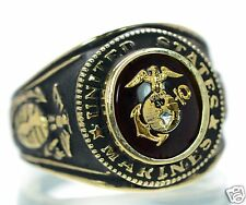 Men's US Marine Corps Gold Plated Ring Size-11 '
