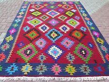 """Anatolia Turkish Nomads Antalya Kilim 83"""" x 115,3"""" Area Rug Kelim Carpet Wool"""