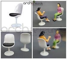 2 x moderne Modell Stuhl Modellbau Büro Wohnzimmer 1:25 Spur G, hoch Qualität!!