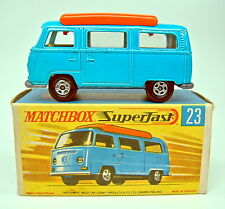 Matchbox SF Nr.23A VW Camper blau orange Einrichtung top in Box