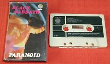 BLACK SABBATH - UK CASSETTE TAPE - PARANOID - FIRST ISSUE WITH PAPER LABELS