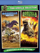 Godzilla NEW Tokyo SOS + Final Wars Blu-Ray Disc/Case/Cover-No Digital S.O.S.