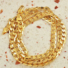 "HOT 9K Solid Gold Filled Mens Chain Necklace 24"",F1051"