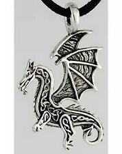 CELTIC DRAGON AMULET PENDANT - Wicca Pagan Witch Goth Punk Myth New Age Spell