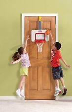Over The Door Basketball Hoop & Ball Adjustable Heights Kids Toddlers Toys NEW