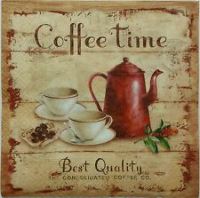 VINTAGE COFFEE TIME 2 single LUNCH SIZE paper napkins for decoupage 3-ply