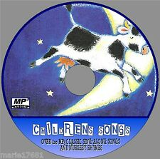 OVER 200 KIDS SING ALONG SONGS & NURSURY RHYMES FUN CHILDRENS MP3 AUDIO CD NEW