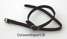 CS Brown Leather Spur Straps with Stainless buckles adult