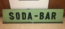 Vintage Porcelain Flanged Sign / Soda Bar / Soda Jerk / Coca Cola / 50 X 12