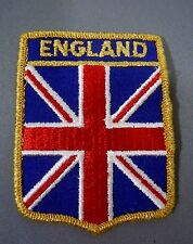 "ENGLAND UK Great Britain Embroidered Iron On Jacket Patch 3"" x 2 1/4"""