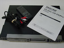 Clean Tascam CD-01U Pro Rack Mount CD Player with Remote Control