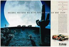 Publicité Advertising 1994 (2 pages) Les 4X4 Jeep Cherokee et Wrangler