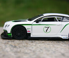 Bentley Continental GT3 Alloy Diecast 1:32 Model Cars Toy & Collection White