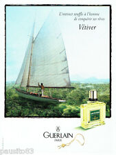 PUBLICITE ADVERTISING 026  1997  Guerlain  eau de toilette homme Vétiver