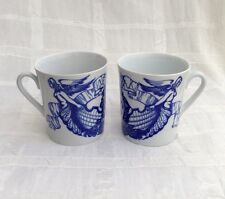 LOMONOSOV Leningrad Russian Mermaid Figurehead NAUTICAL Coffee Mugs Lot #3