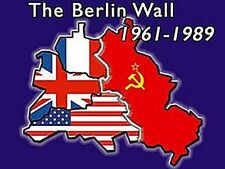 Berlin Wall 61-89 steel fridge magnet   (na)