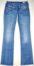 Diesel Light Medium Blue Factory Faded Cherock Boot Jeans 26X32 Stretch AWESOME