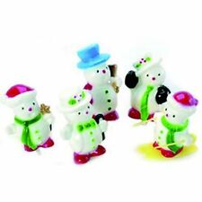 Snowman Picks (set 5) Christmas Cake Toppers