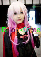 Lolita Long Pink Mixed Hair Straight Full Wigs Cosplay Party Costume Wig