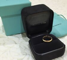 Tiffany & Co Lucida 4.5mm Wedding Ring Band 18k 18ct Yellow Gold $1600 NEW