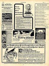 Metrostyle-Pianola Thomas Edison Jugend-Anzeigen Art nouveau  Reklame Ad 1906