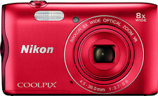 Nikon Coolpix A300 20.1MP Point & Shoot Camera with 8x Optical Zoom (SMP2)