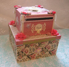 Wedding Card Box OOAK Elegant Cake-Shaped Gift Card Holder Money (SEE VIDEO)
