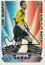 JOE MURPHY HAND SIGNED COVENTRY CITY 11/12 MATCH ATTAX CARD 2011/2012 MOTM.