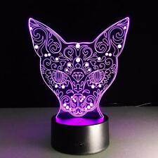3D LED 7 Colors Illusion Animal Cartoon Touch Night Light Desk Table Lamp B111