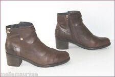 TOMMY HILFIGER Boots Femme Cuir Marron T 42 TBE