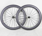 Clincher 23mm 60mm depth Carbon Fiber wheels Road Bicycle Wheelset Racing Set