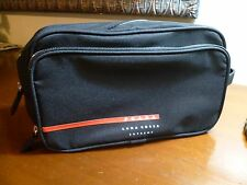PRADA AUTHENTIC TOILETRY  PRADA TRAVEL POUCH,COLOR BLACK with  RED ACCENTS