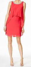 SL Fashions New Embellished Popover Chiffon Dress Size 10 MSRP $99 #DN 583 (10)