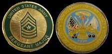 US ARMY SERGEANT MAJOR  E9 RANK CHALLENGE COIN MILITARY COLLECTIBLE COINS