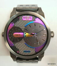 Diesel Mini Daddy Gunmetal-Tone Stainless Steel Bracelet Watch 54x46mm DZ7319