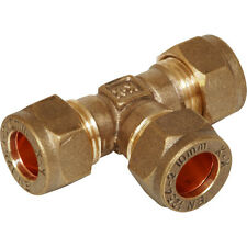 Compression 8mm Brass Equal Tee Piece Pipe Connector Fitting for Copper