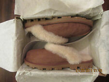 Women's SIZE 9 Shoes UGG Australia Coquette Sheepskin Slippers 5125 Chestnut New