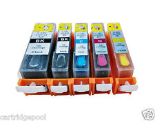 5 Refillable ink cartridges for Canon PGI-220 CLI-221 Pixma MP990 MX860 MX870