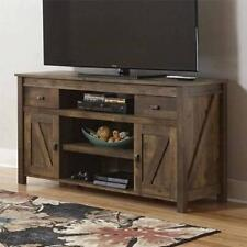 TV Stand Barn Sliding Door Weathered Rustic Farmhouse Media Center Table Console