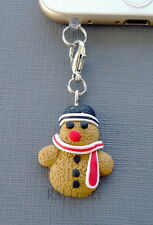 Christmas Snowman cell phone Charm AntiDust proof Plug ear cap cover jack s29