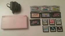 Nintendo DS Lite Coral Pink Handheld System Bundle - 10 games and charger